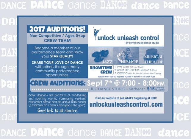UUC Crew Audition Flyer